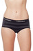 Icebreaker Sprite Hot Pants Women black/jet hthr/stripe